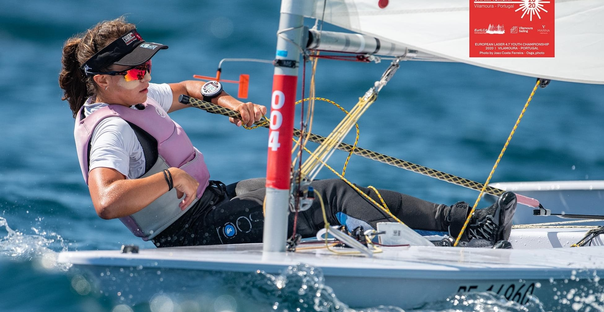 Anja von Allmen an der Laser 4.7 Junioren EM in Vilamoura POR